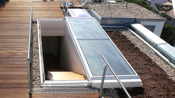 LAMILUX Flat Roof Exit Comfort Solo - Residental Building Berlin